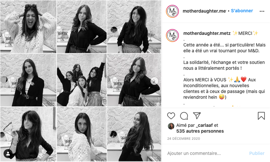 Publication instagram mother daughter.me bonne année